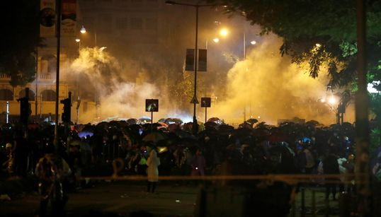 Hong Kong Protesters, Police Clash At University Campus As Anti-Government Unrest