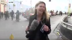 Una periodista de 'Al Jazeera', agredida con gas lacrimógeno por la policía de
