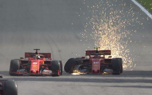 Disastro Ferrari. scontro Leclerc Vettel in pista, costretti