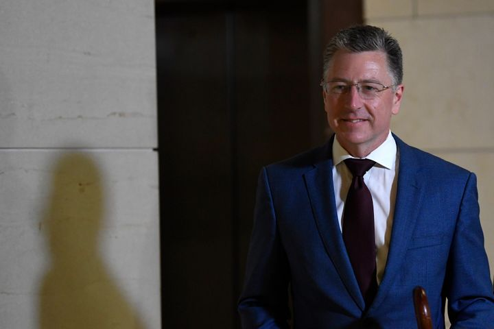 Kurt Volker, President Donald Trump's former special envoy to Ukraine, arrives Oct. 16 on Capitol Hill.