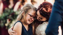 「君を自分の娘だと言えて、本当に幸せ」新しいパパは、結婚式で誓った。