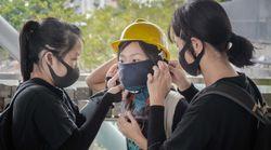 """홍콩 고등법원 """"시위대 복면금지법은"""