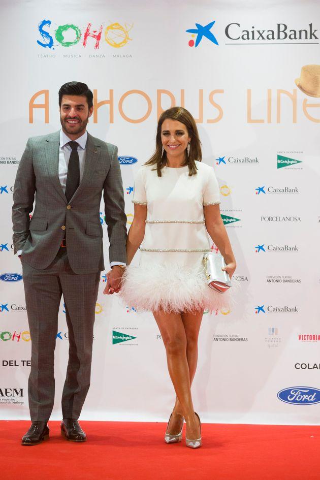 Paula Echevarría y Miguel Torres, en el estreno de 'A Chorus Line' en Málaga el 15 de noviembre...
