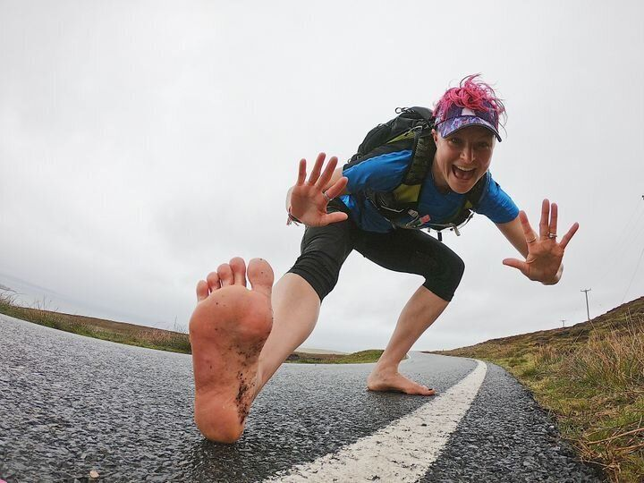 Woman Runs 90 Marathons Barefoot – Here