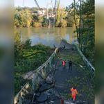 Une morte dans l'effondrement d'un pont près de Toulouse, trois véhicules ont été précipités dans la