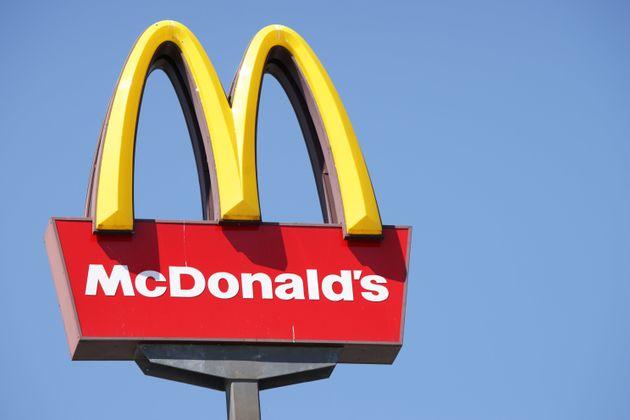 Un logo de McDonald's en Liubliana,
