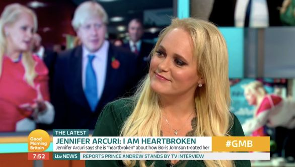 Jennifer speaks to Piers Morgan and Susanna Reid about her past relationship with Boris