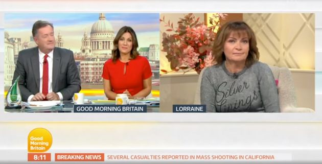 Susanna's face says it all as Lorraine says exactly how she's
