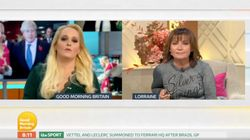 Lorraine Kelly Tears Into Jennifer Arcuri Live On Good Morning Britain For Evading