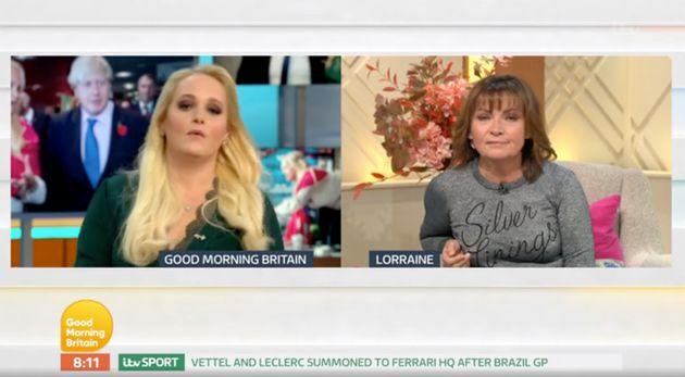 Lorraine and Jennifer Arcuri speak via