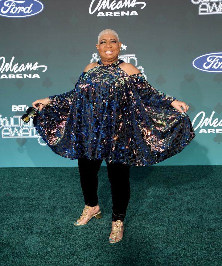 """Comedian and """"Dolemite Is My Name"""" actor Luenell goes for fun and fabulous in her ensemble."""
