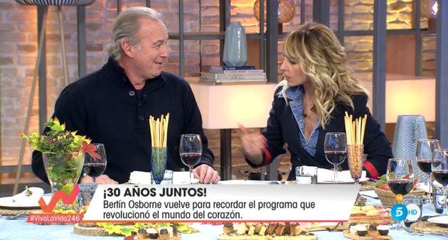 Bertín Osborne y Emma García el 17 de noviembre de 2019 en 'Viva la