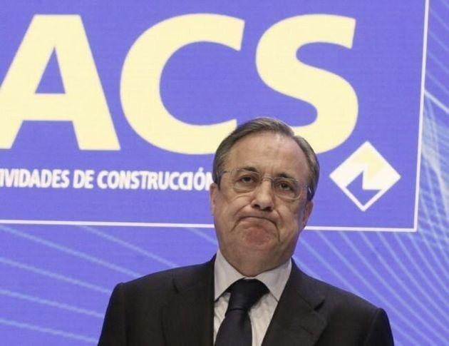El presidente de ACS, Florentino Pérez, durante una junta de accionistas en