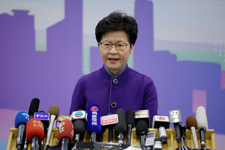 <strong>Hong Kong's leader Carrie Lam officially pulled the extradition bill in October&nbsp;</strong>