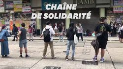 Des chaînes humaines pour approvisionner les manifestants à Hong