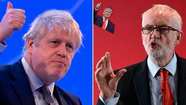 Entre Boris Johnson et Jeremy Corbyn, ce n'est pas forcément le candidat conservateur qui se rapproche...