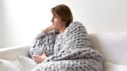 Where To Buy Chunky Knit Blankets And Faux Fur