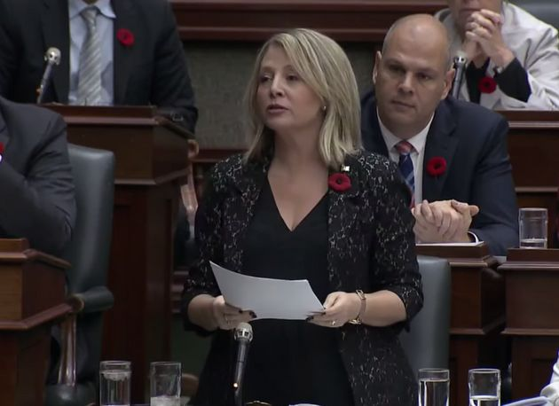 Ontario MPP Marit Stiles speaks during question period at Queen's Park on Nov. 7,
