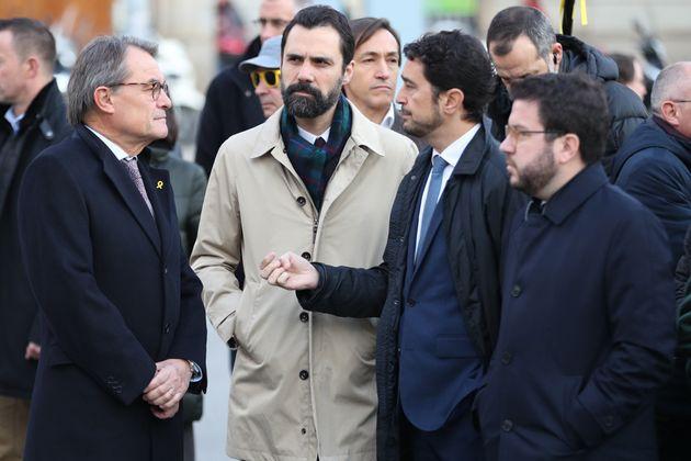 Artur Mas, Roger Torrent y Pere
