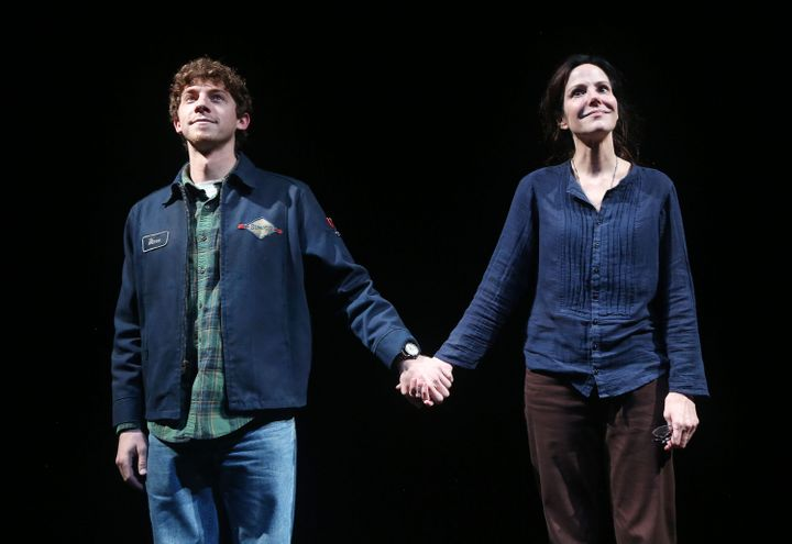 """Will Hochman (left) stars alongside Mary-Louise Parker in """"The Sound Inside,"""" now playing on Broadway."""