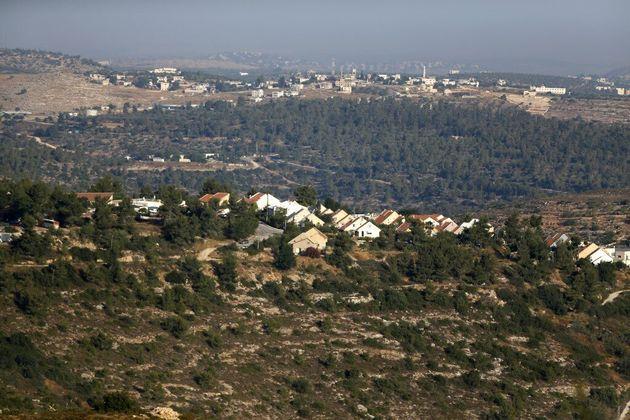Les colonies israéliennes en Cisjordanie occupée -ici à Ateret à l'est de...