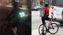The Story Behind A Vancouver Cyclist Pretending To Be A