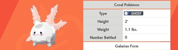The Galar variant of the Corsola Pokémon.