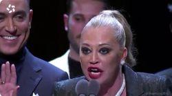 El dardo político de Belén Esteban en su aplaudidísimo discurso en los Premios