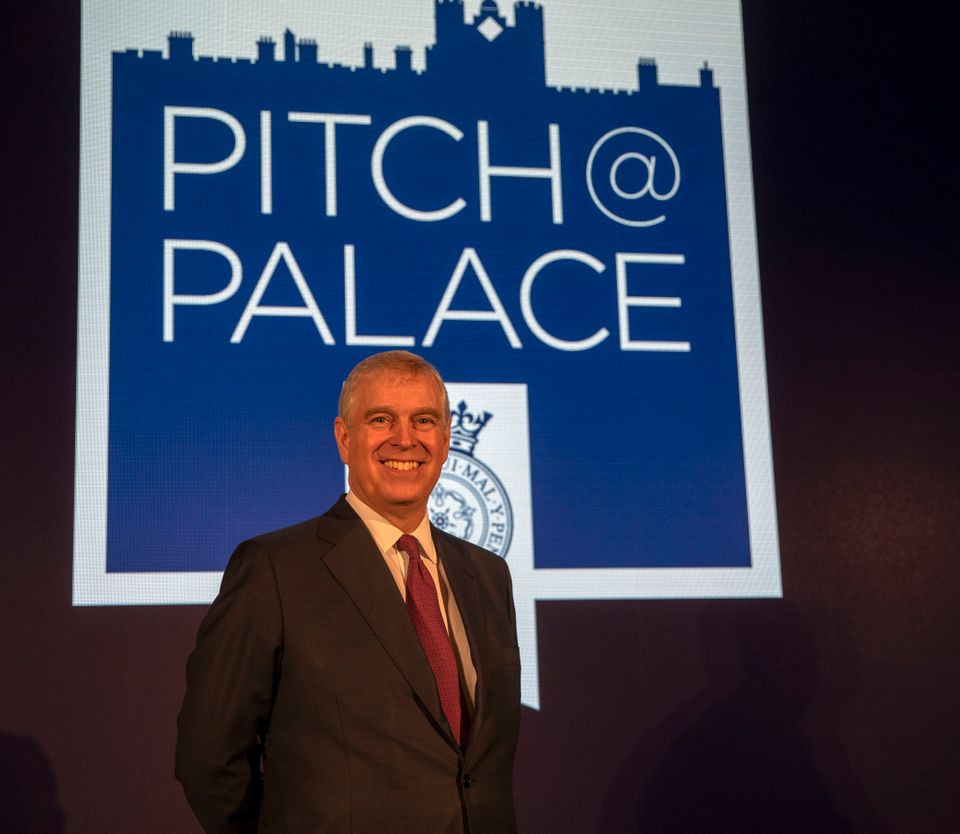 The Duke of York at a Pitch@Palace event at Buckingham Palace in