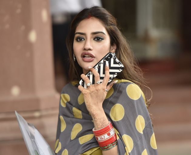 TMC MP from Basirhat Nusrat Jahan leaves after attending the Budget Session at Parliament House on July...