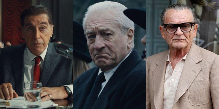 Al Pacino, Robert De Niro y Joe Pesci en 'El irlandés'.