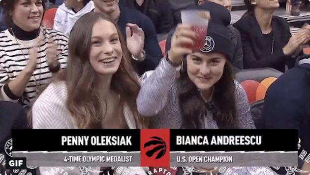 Bianca Andreescu, Penny Oleksiak Put On A Show At Toronto Raptors Game