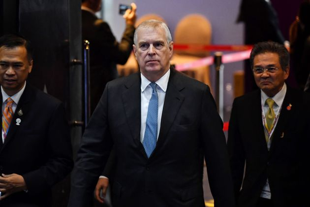 The Duke of York arrives for the ASEAN Business and Investment Summit in Bangkok on Nov. 3, on the sidelines...