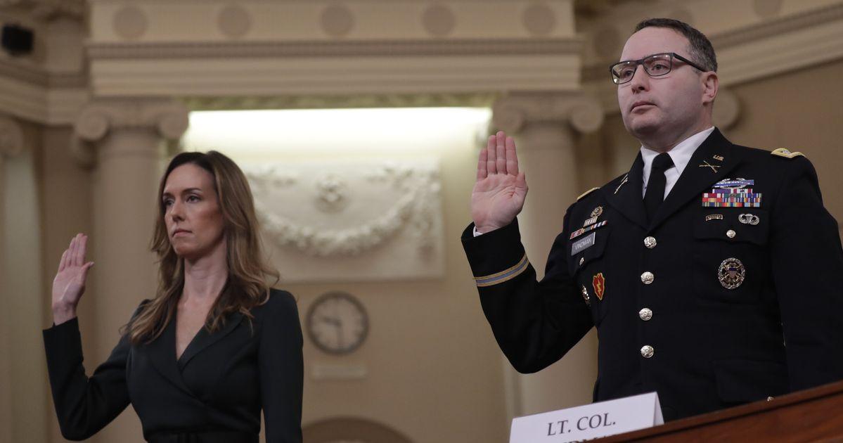 Alexander Vindman, Jennifer Williams Testify In Trump Impeachment Hearing