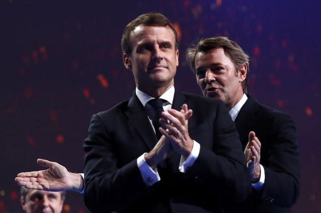 Emmanuel Macron et François Baroin lors du 102e Congrès des maires de
