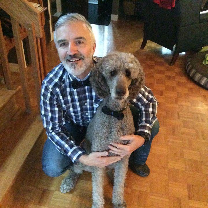 Martin Couture et son chien Balzac