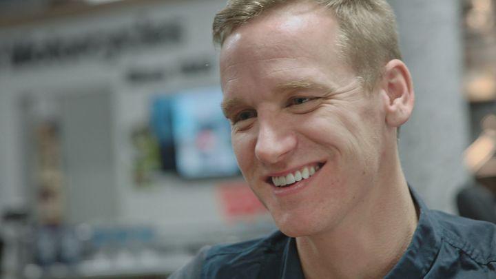 David Testo, ancien joueur de l'Impact de Montréal(image tirée du documentaire «Franchir la ligne»)