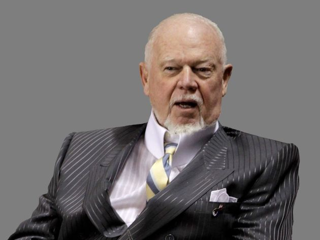 Don Cherry, Canadian hockey commentator, graphic element on