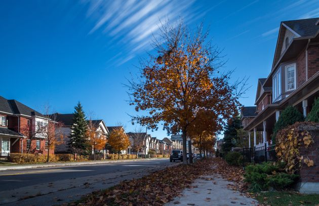 A residential street in