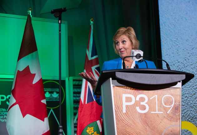 Ontario Minister of Infrastructure Laurie Scott speaks during P3 2019: The 27th Annual CCPPP National...
