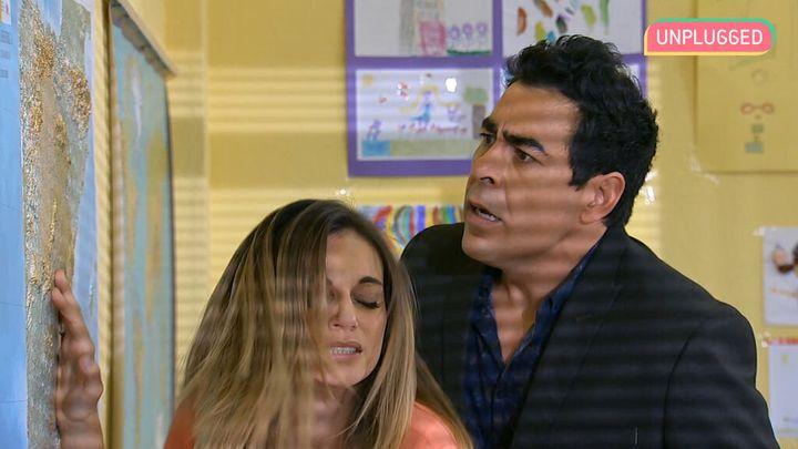 Amador y Bárbara, en una escena de 'La que se avecina'.
