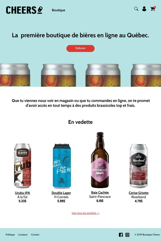 Un aperçu du site Web de Cheers qui sera lancé officiellement le 21 novembre prochain.
