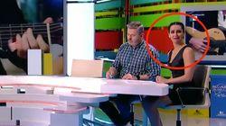 """La reacción de Cristina Pedroche a lo que se escuchó en el plató de 'Zapeando': """"Hala, qué"""
