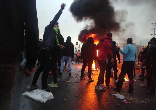 Un grupo de manifestantes, el pasado 16 de noviembre, en