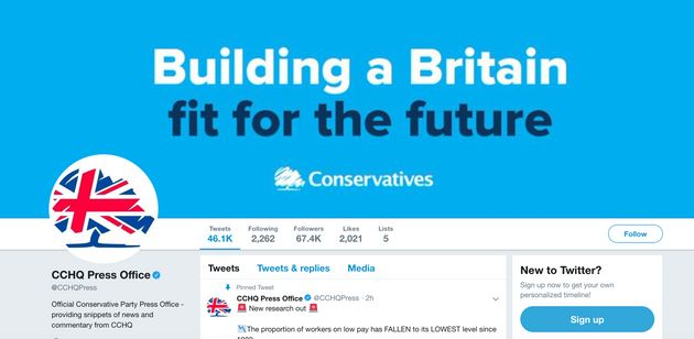 Tory HQ Slammed For Dystopian Rebranding Of Twitter Account During Leaders Debate