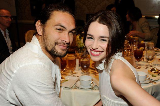 Jason Momoa and Emilia Clarke attend the 12th Annual AFI Awards in