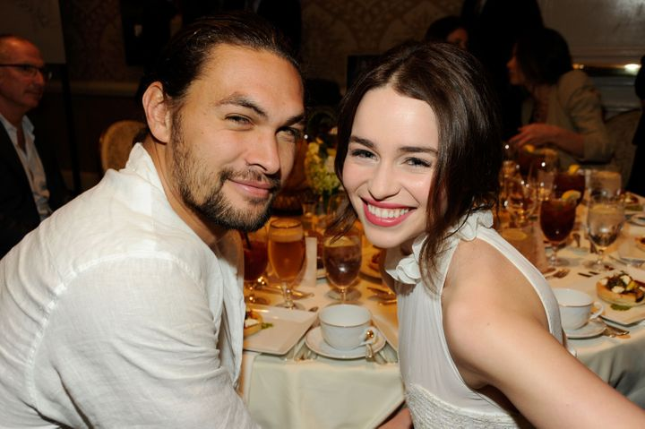 Jason Momoa and Emilia Clarke attend the 12th Annual AFI Awards in 2012.
