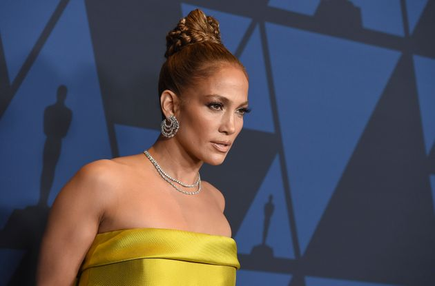 Jennifer Lopez arrives at the Governors Awards on Sunday, Oct. 27, 2019, at the Dolby Ballroom in Los...