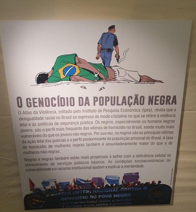 Charge do cartunista Carlos Latuff, que faz uma provocação ao genocídio da população...