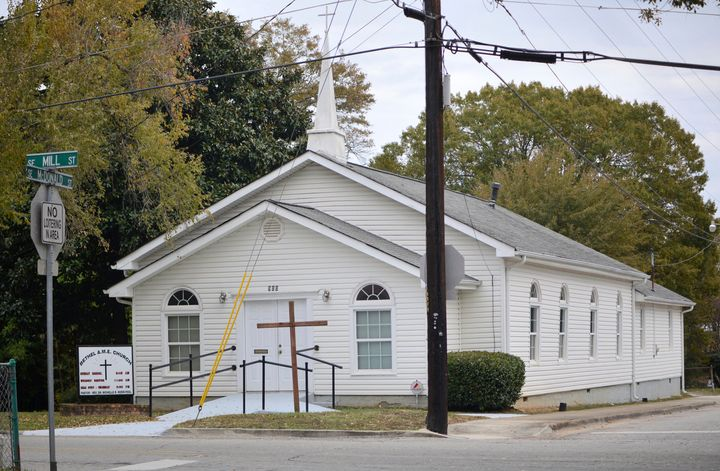 This Nov. 19, 2019 photo shows the Bethel African Methodist Episcopal Church in Gainesville, Ga.